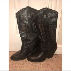 Size 7.5 EUC VERY VOLATILE western LEATHER boots